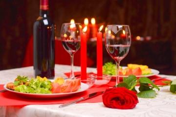 Романтический ужин (вегетарианские блюда) на 2 персоны