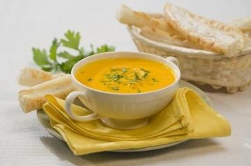Крем суп овощной