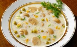 Суп-пюре грибной (из шампиньонов)