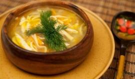 Суп - лапша куриная домашняя